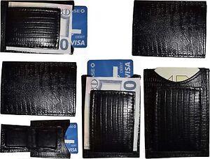 Lezard-Noir-Peau-Imprime-Cuir-Argent-Pince-Unbranded-Argent-Pince-Neuf-Lot-de-6