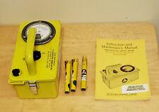 Victoreen Cdv 715 Radiation Detector Meter With Manual Amp 3 Dosimeter Pens