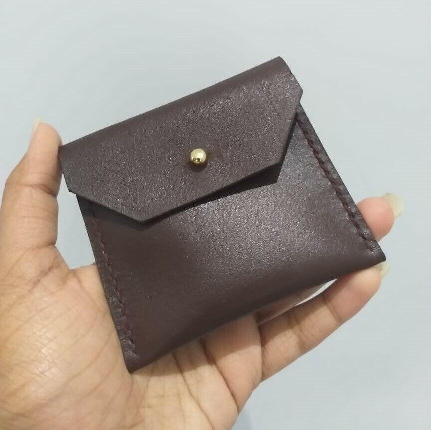 Leather Coin Purse Men Women Unisex Small Wallet Change Money Bags Key Holder