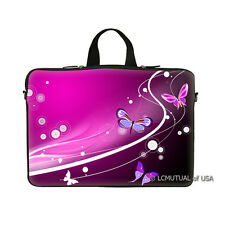"PINK FLOWER DESIGN 17.3"" LAPTOP SLEEVE BAG CASE w HIDDEN HANDLE FOR 17"" 16"""