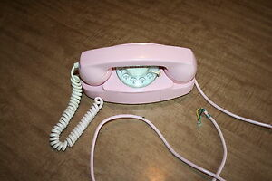 Vtg Pink Princess Rotary Dial Phone Bell System 701B 3-60 Not Tested! See Pix!!