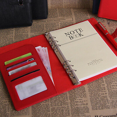 4 Size Personal Pocket Organiser Planner PU Leather Cover Filofax Notebook