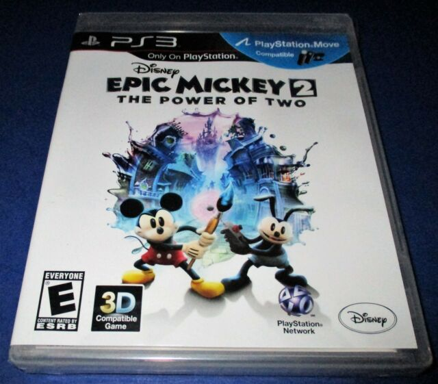Disney Epic Mickey 2: The Power of Two Sony PlayStation 3 *New-Sealed-Free Ship!