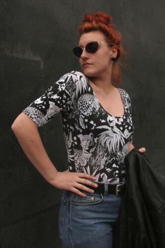 anni '90 Unterwäsche Vintage Damen w True Tigri giungla 90er donna Top S Body qxAwRYa