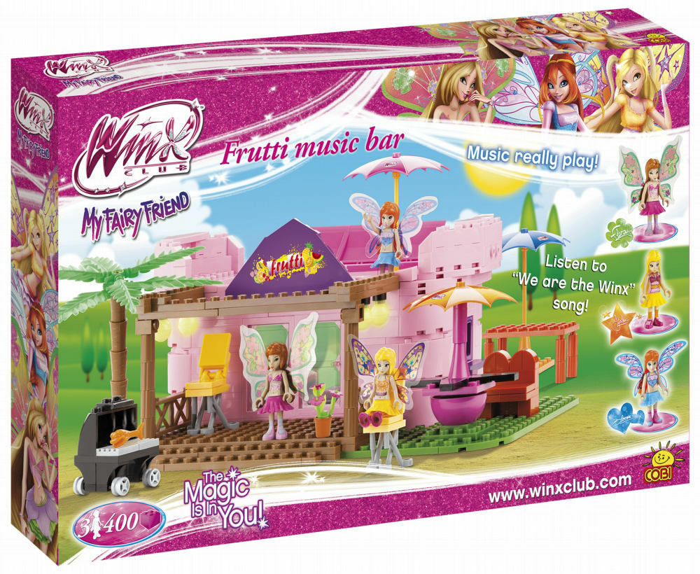 Cobi Toys Winx Club Frutti Music Music Music Bar Winx Toys Building Blocks Set 400 PCS BNIB 77495f