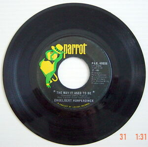ONE-1969-039-S-45-R-P-M-RECORD-ENGELBERT-HUMPERDINCK-A-GOOD-THING-GOING-THE-WAY