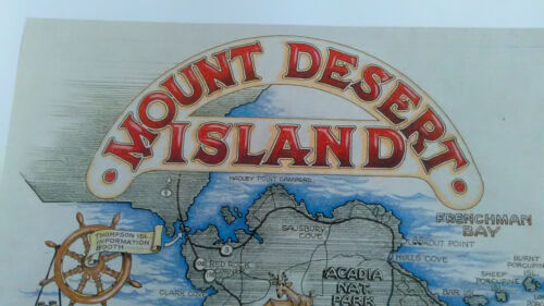 "Mount Desert Maine Poster Signed by Artist Stan Silva 15/""x22/"" Printed in Germany"