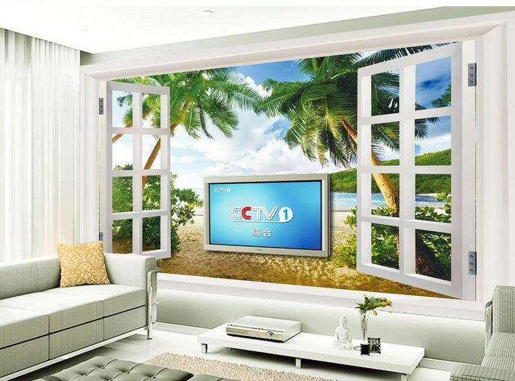 3D Beach sand tree 323 Paper Wall Print Decal Wall Wall Murals AJ WALLPAPER GB