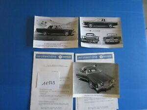 PréVenant N°11543 / Chrysler France Gamme Des Modéles Anglais Et Américain 1975 + 3 Photo