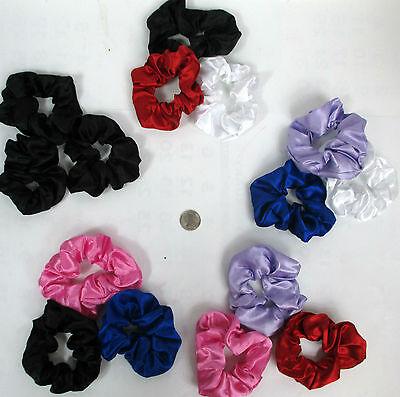 Lot Of 12,24,48-Beautiful Soft Silky Print  Hair Scrunchies Twister  4 Iinc Dia.