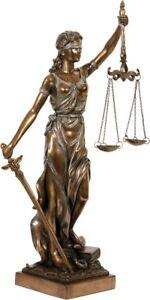 Justitia-Figur-bronziert-Skulptur-34-cm-Goettin-der-Gerechtigkeit-Deko-Anwalt