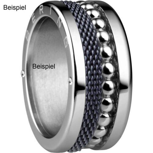 BERING Ring schmal Innenring 577-17-X1 mit Steinen Farbe Silber Sparkling Blau