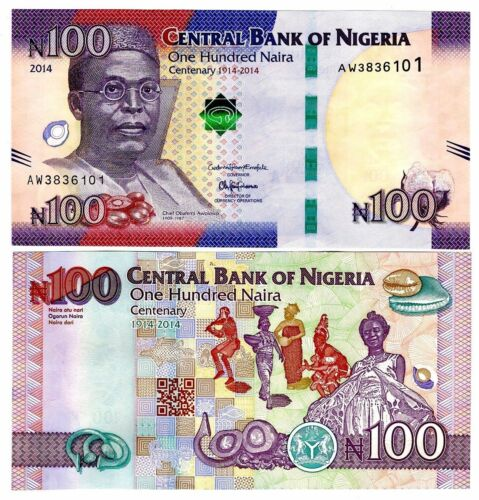 Nigeria 2014 Uncirculated 100 Naira Commemorative Note
