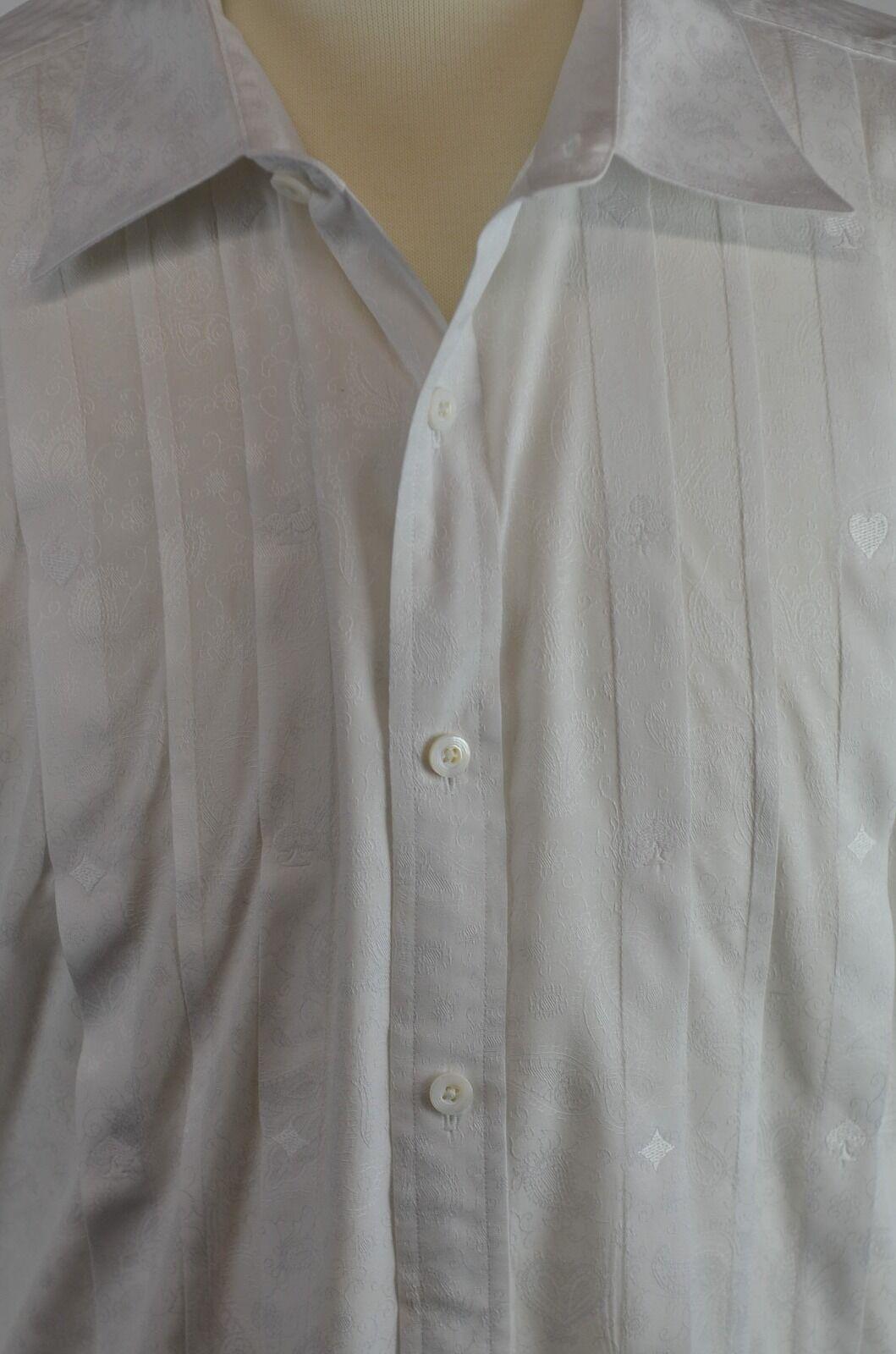 Nat Nast Men's Shirt  Size XL French Cuff Textured Shirt Very Cool