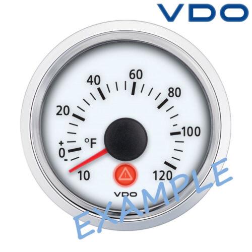 """VDO Viewline Außentemperatur Anzeige 52mm 2/"""" 25//+50C weiß A2C59510431"""