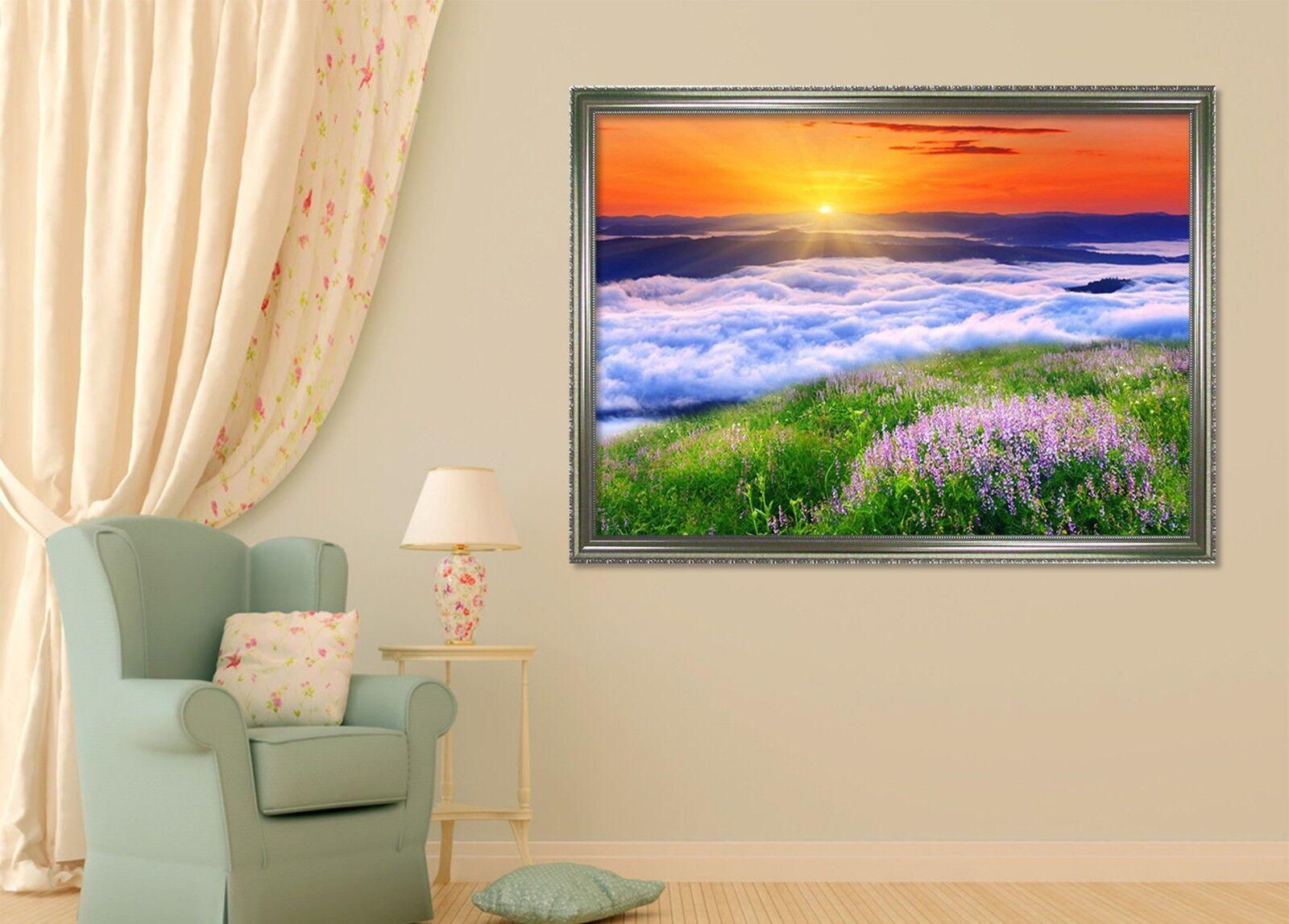 3D Sunset River 46 Framed Poster Home Decor Print Painting Art AJ WALLPAPER