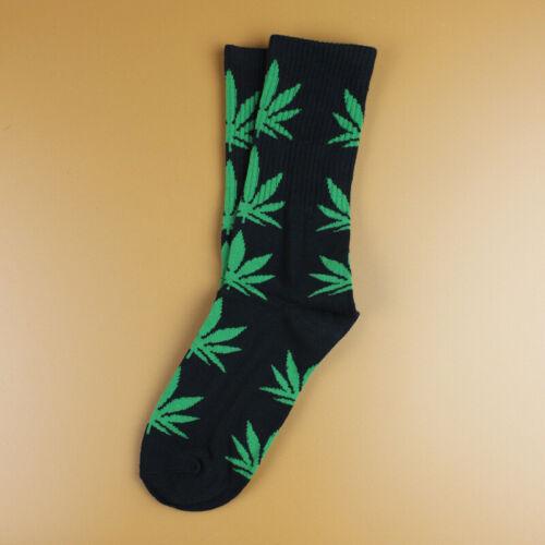 Mens Cotton Socks Funny Fashion Marijuana Leaf Casual Long Weed Dress Socks 7-12