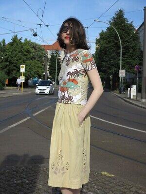 Gut Ausgebildete Wings S Damenrock Baumwolle Beige 80er Truevintage 80s Ladies Skirt Cotton Einfach Zu Verwenden