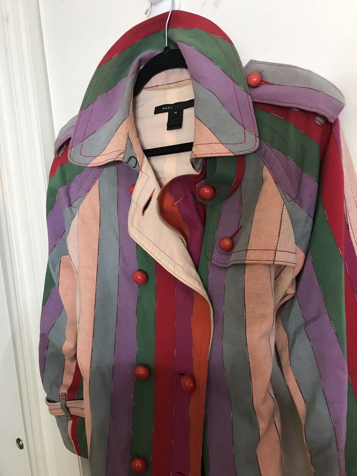 MARC JACOBS Multi Color Trench Coat Medium msrp $… - image 6