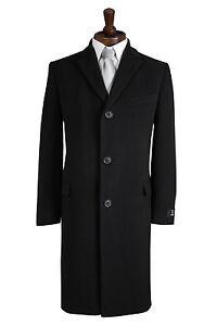 fuori caldo nera 50 lana Cromby uomo Cappotto stile nuovo misto Cappotto invernale w0B6EPqv