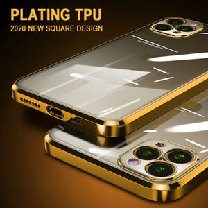 For-iPhone-12-mini-11-Pro-Max-XS-XR-X-8-7-Slim-Plating-Clear-Soft-TPU-Case-Cover