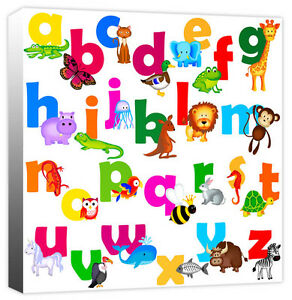Image Is Loading Children 039 S Jungle Animal Alphabet ABC Kids