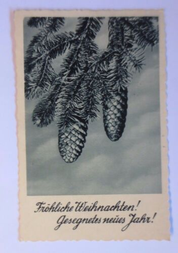 """ Christmas, Fir Branch, Pinecone "" 1932 47996"