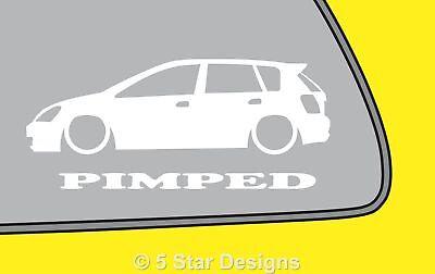 2x prostitution Civic EP 5-porte Autocollant Décalque Pour Honda Civic type r Type s LR339
