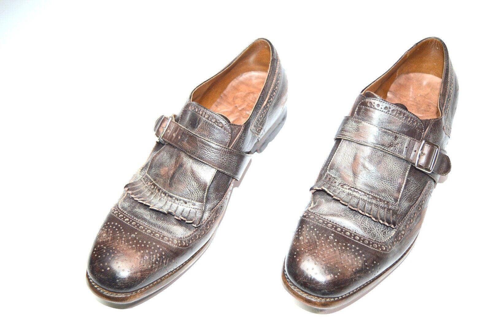 NEW CHURCH'S Dress Leather scarpe Model SHANGAY Dimensione Eu 41.5 Uk 7.5 Us 8.5 (H6)