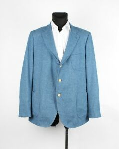 Gant Hommes Bleu Clair Décontracté Veste Blazer Taille EU58 UK48, Véritable