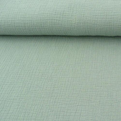 Las prendas de vestir de tela Double gauze muselina windelstoff monocromática Mint