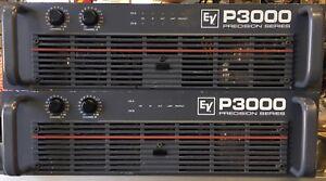 electro voice ev p3000 power amplifier high output 2400w bridged 750w ch 8ohms ebay. Black Bedroom Furniture Sets. Home Design Ideas