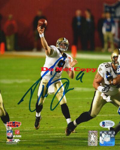 Drew Breeze New Orleans Saints autographed 8x10 photo RP