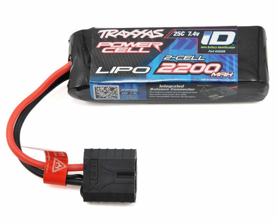 Traxxas 2820X 2S  Power Cell  25C LiPo Battery w iD Traxxas Connector 7.4V 2200