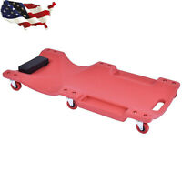 36 Large Wheel Plastic Creeper Tool Lightweight Portable Red Us Stock