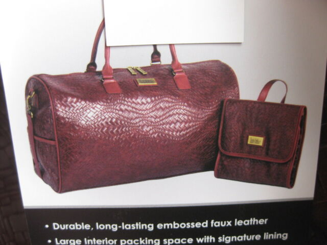 New-nicole Miller Krista Collection 2 PC Ladies Weekender Bag Set-choose  Color Maroon for sale online  2942b87969bb7