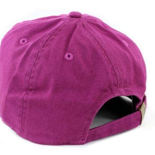 Newhattan  Plain Hat 100/% Cotton  Men Women Adjustable Baseball Cap