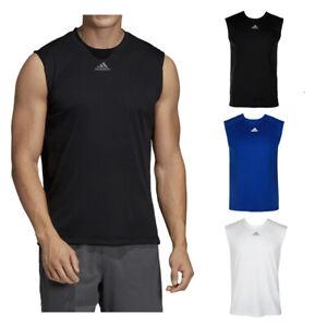 Adidas-Men-039-s-Sleeveless-Ultimate-Muscle-Gym-Running-Tank-Top