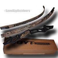 Lh Hoyt Dorado Recurve Bow Black Riser And Rt Xtra Camo Limbs 60 50lb