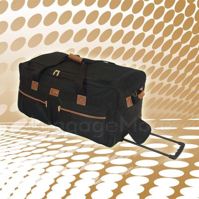 Transworld 8391 30-inch Rolling Duffel Bag-Black