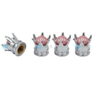 4-X-You-S-Aluminium-Couronnes-Cache-Soupape-Argent-Rose-Perle-Jointure-Pour
