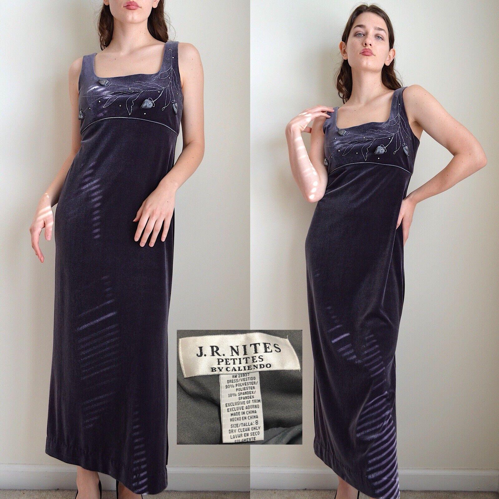 Vintage 1990s Velvet Maxi Dress - image 3