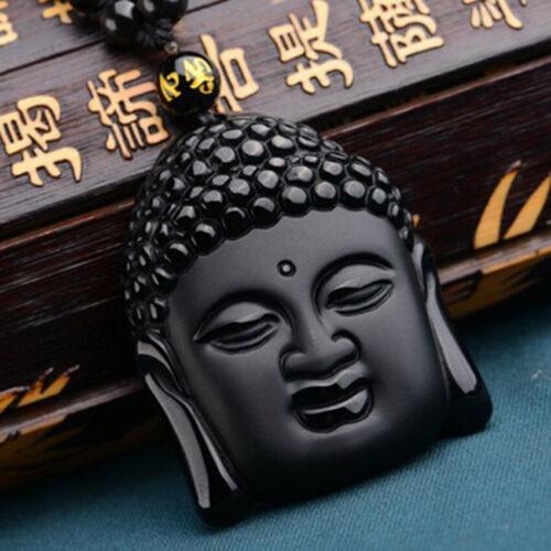 Negro Obsidiana Collar Yin Yang chino Joyas Colgante Joyería para Mujer