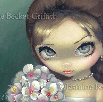 Fairy Face 147 Jasmine Becket-Griffith Big Eye Fantasy Bride SIGNED 6x6 PRINT