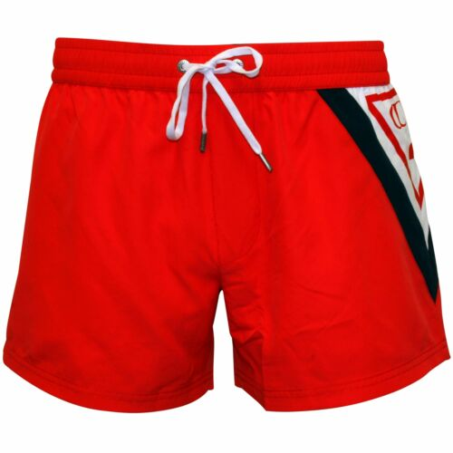 Guess Classic Logo Men/'s Swim Shorts Coral//Red