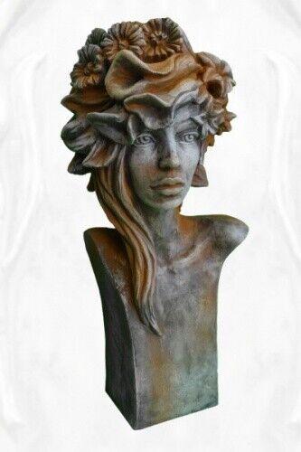 Gartenfigur Büste Moderne Romantik  SOMMER  (Rosi), Rosteffekt