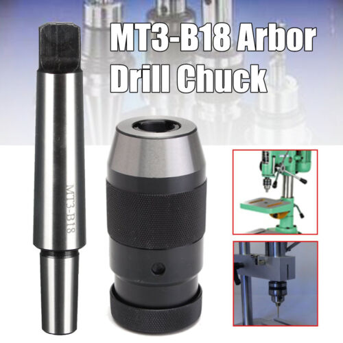 "5//8/""for Milling MT3-B18 Lathe Drill Chuck Keyless Self Tighten 1-16MM 1//32/"""