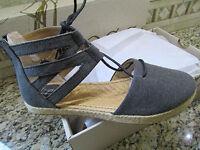 Born B.o.c Lucy Black Gladiator Shoes / Sandals Women's 7 Free Ship