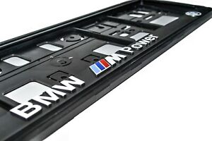 2x-3D-BMW-LICENCE-NUMBER-PLATE-HOLDER-M-Power-M3-M5-M6-M-Performance-X6M-X5