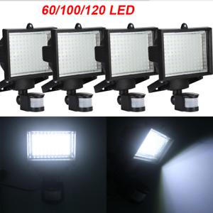 60100120 smd led solar powered motion sensor security light flood image is loading 60 100 120 smd led solar powered motion aloadofball Image collections